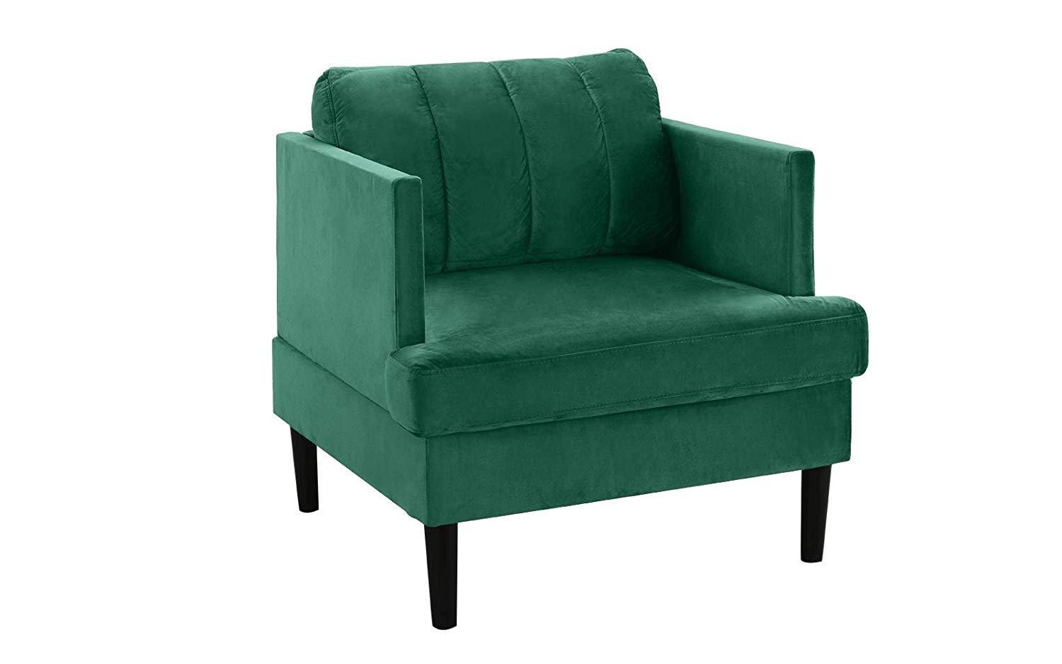 Details About Mid Century Modern High Density Velvet Armchair Living Room Accent Chair Green