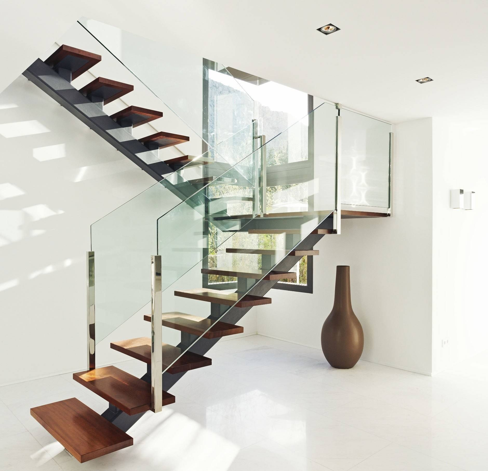 Wood Glass Staircase Designs 22 Photo Gallery Little Big Adventure   Staircase Design Wood Glass   Dark Wood   Modern Style Glass Railing   Spiral   Before And After   Timber