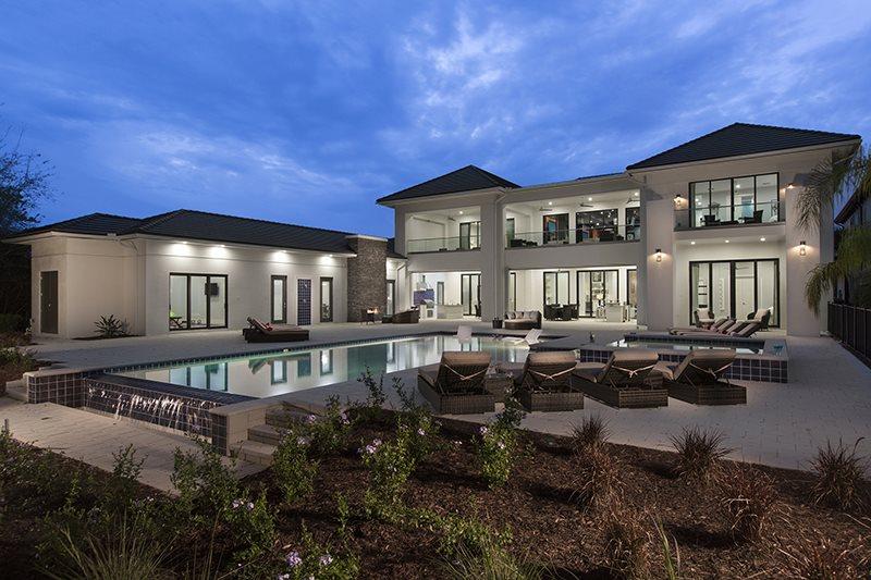luxury villa in reunion resort
