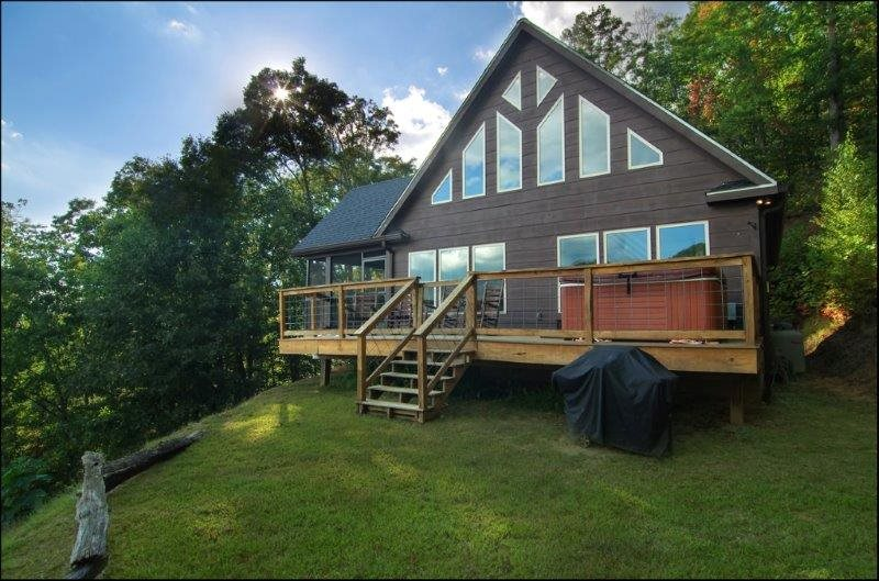 Wengen Chalet Spectacular Views Outdoor Hot Tub Firepit And Screened Porch Cozy Mountainside Cabin Has Game Room And Internet Minutes To Rafting And