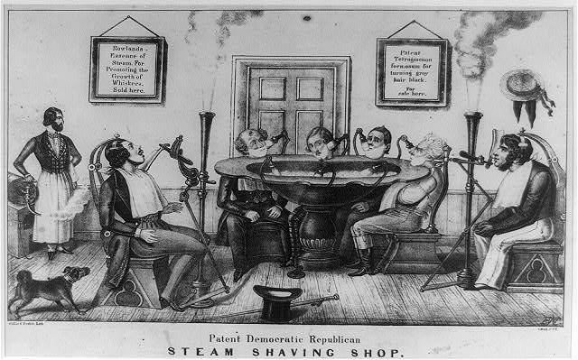 Patent Democratic Republican steam shaving shop