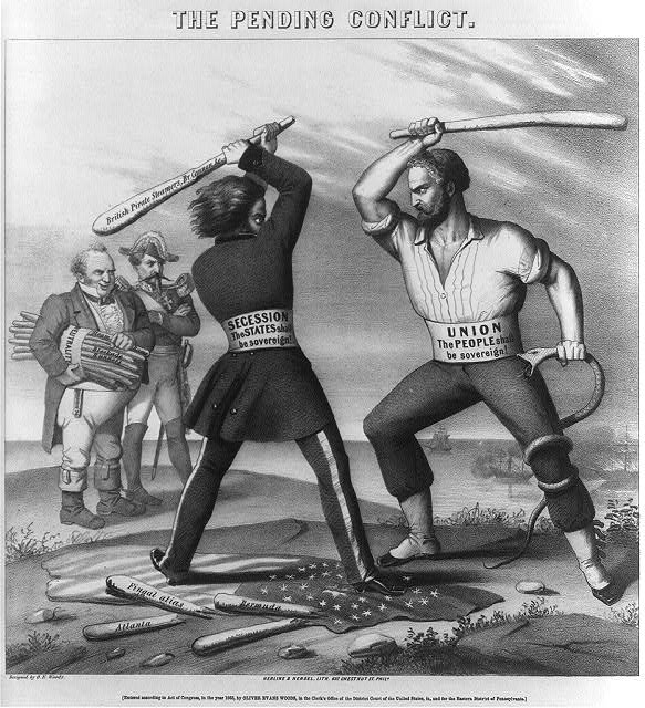 Image result for british  neutrality in the american civil war political cartoon