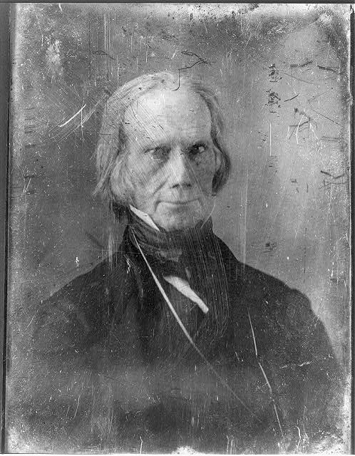 Henry Clay, photo by Mathew B. Brady between 1850 and 1852; Library of Congress archives.