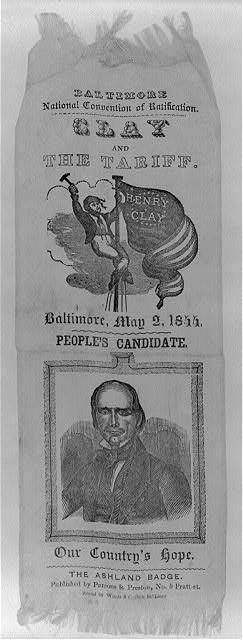 Baltimore National Convention of Ratification. Clay and the tariff