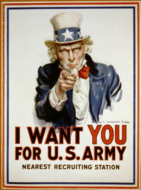 Resultado de imagem para I want you for U.S Army