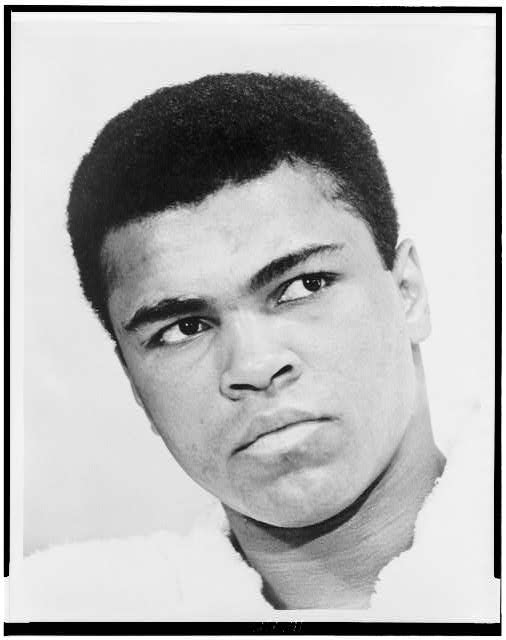 [Muhammad Ali, bust portrait]