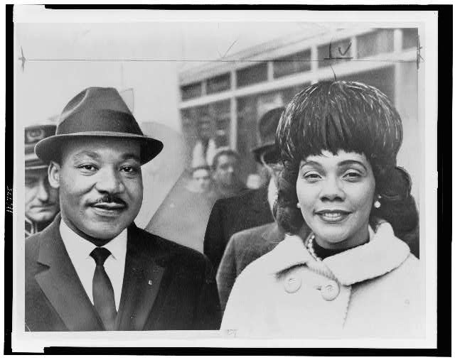 [Dr. & Mrs. Martin Luther King Jr., head-and-shoulders portrait, facing front]