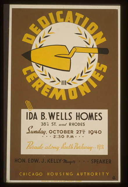 Dedication ceremonies--Ida B. Wells Homes ... parade along South Parkway ... Chicago Housing Authority