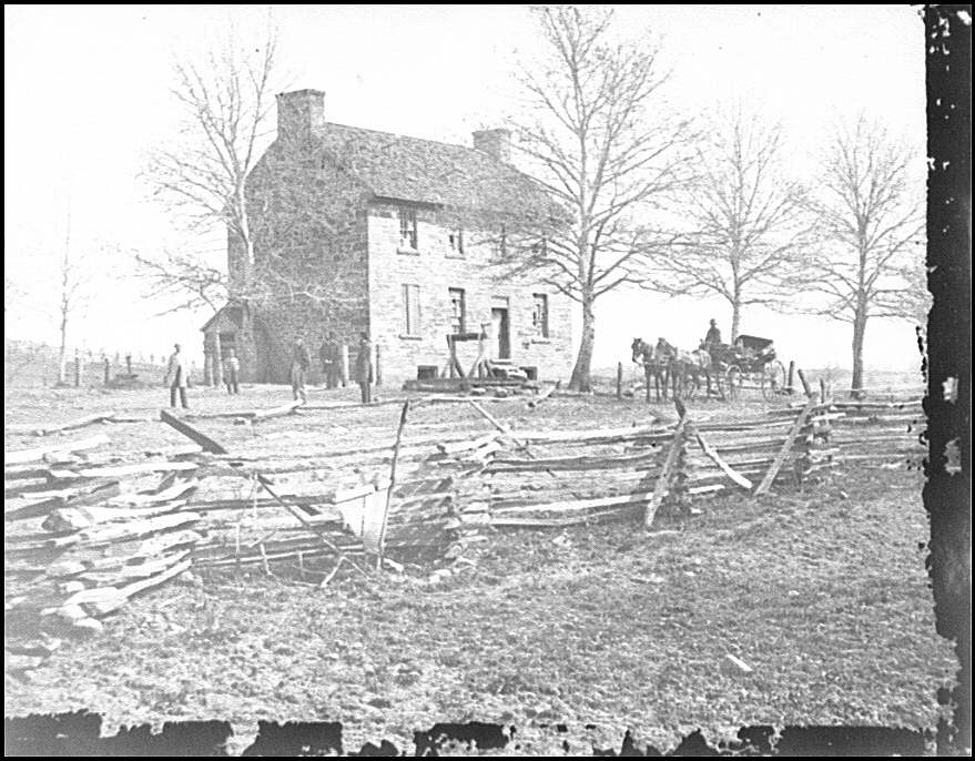 Bull Run, Va. Matthews' or the Stone House. Library of Congress image. George N. Barnard, photographer, March 1862. Selected Civil War Photographs