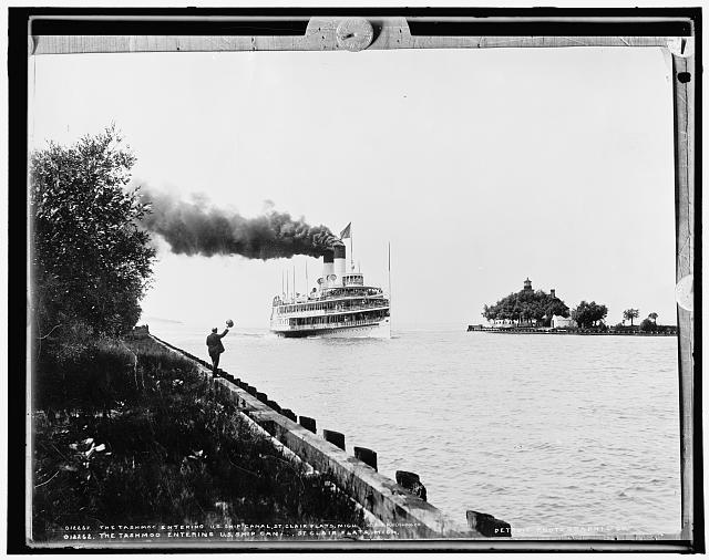 The Tashmoo entering U.S. ship canal, St. Clair Flats, Mich.