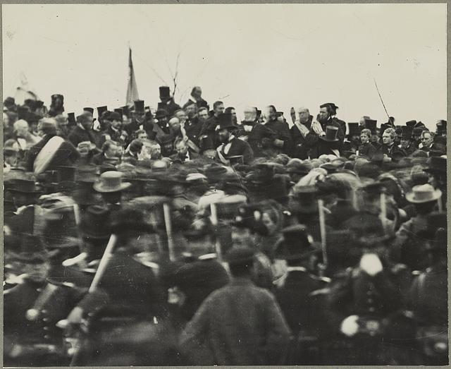 Prior to 2007, this was the only known photo of Lincoln at Gettysburg, on the day of his address - Library of Congress