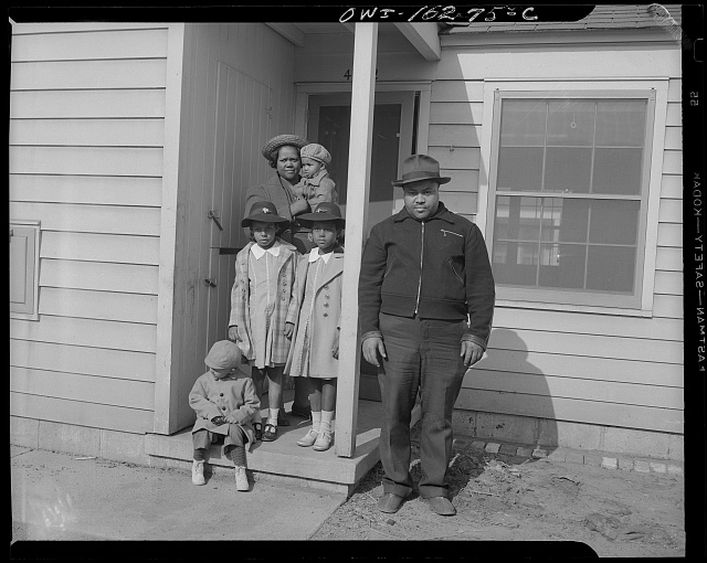 Detroit, Michigan. Typical Negro family at the Sojourner Truth homes