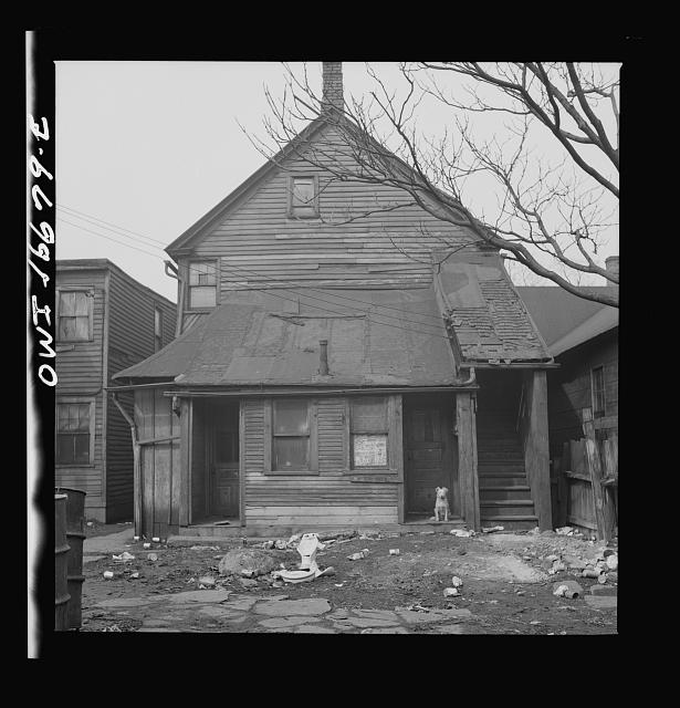 Detroit, Michigan. Negro residence. These are conditions under which families originally lived before moving to the Sojourner Truth housing project