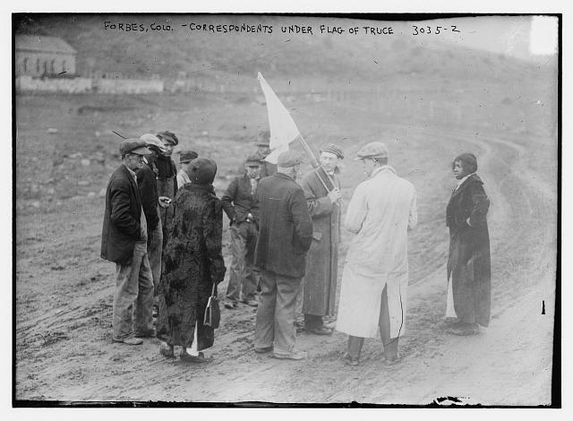 Forbes, Colo. -- Correspondents under flag of truce