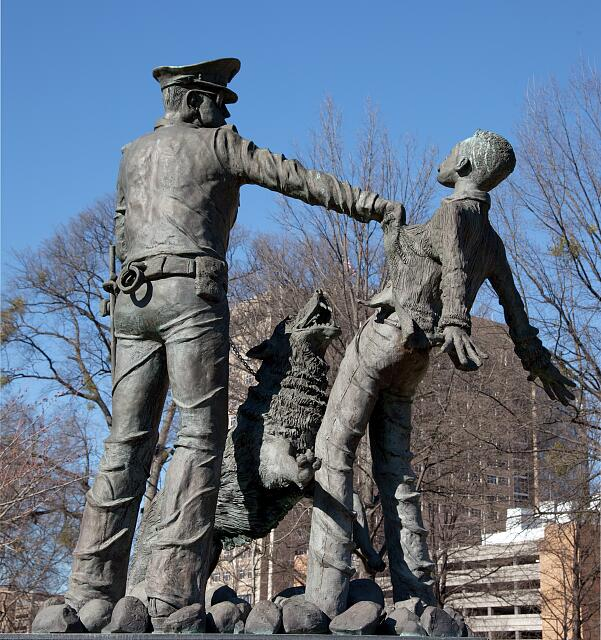 Sculpture dedicated to the Foot Soldiers of the Birmingham Civil Rights Movement. Kelly Ingram Park, Birmingham, Alabama