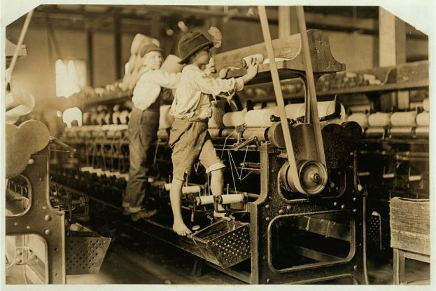 """From the Lewis Hine's Collection Library of Congress. In 1954 the Library received the records of the National Child Labor Committee, . . . 350 negatives by Lewis Hine. In giving the collection to the Library, the NCLC stipulated that """"There will be no restrictions of any kind on your use of the Hine photographic material."""""""