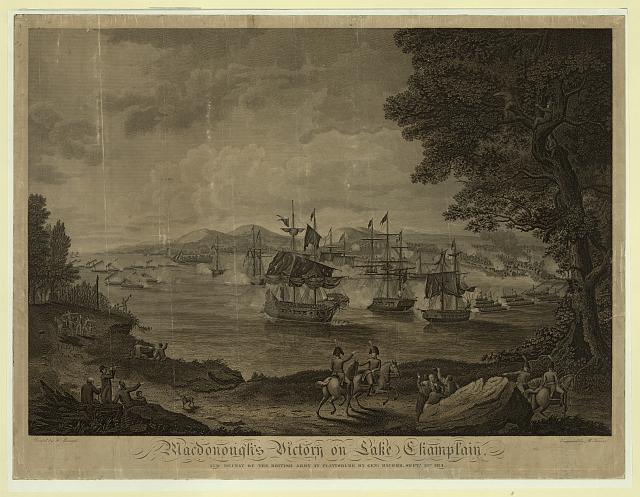 Macdonough's victory on Lake Champlain and defeat of the British Army at Plattsburg by Genl. Macomb, Sept. 17th 1814