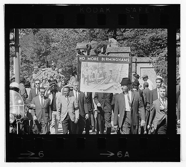 Congress of Racial Equality conducts march in memory of Negro youngsters killed in Birmingham bombings, All Souls Church, 16th Street, Wash[ington], D.C.