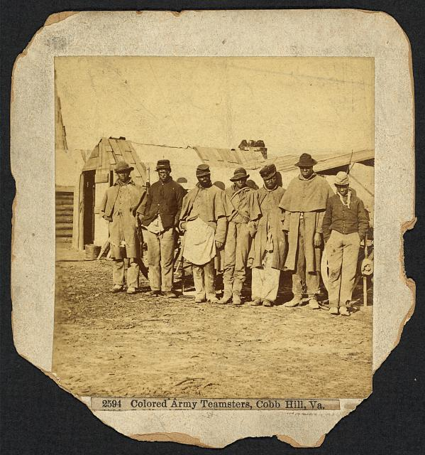 Colored army teamsters, Cobb Hill, Virginia