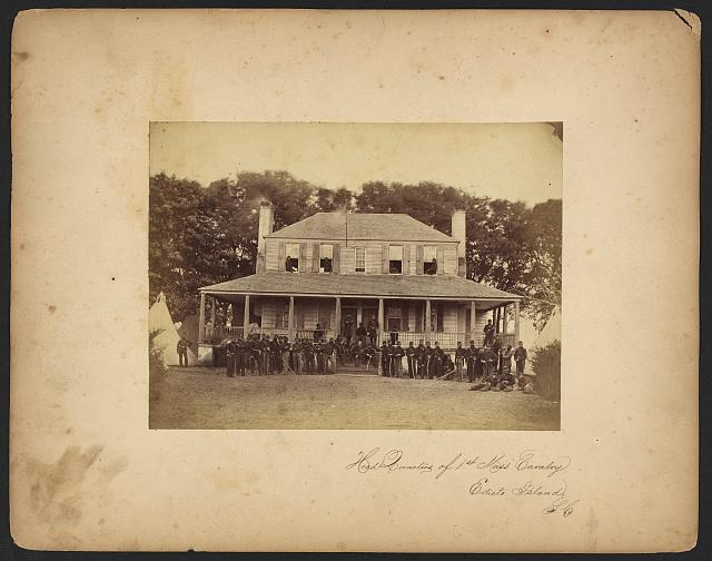 Head Quarters of 1st Mass Cavalry, Edisto Island, S.C.