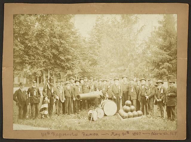 114th Regimental Reunion, May 30, 1897, Norwich, N. Y.