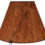 Rustic Brown X Laced Hardback Parchment Lampshades
