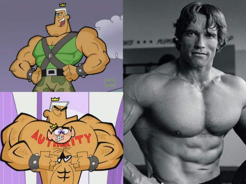 Cartoon Funny Strong Man