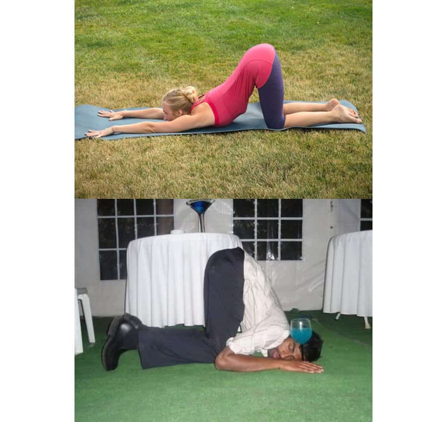 10 Of The Best Drunk Yoga Poses