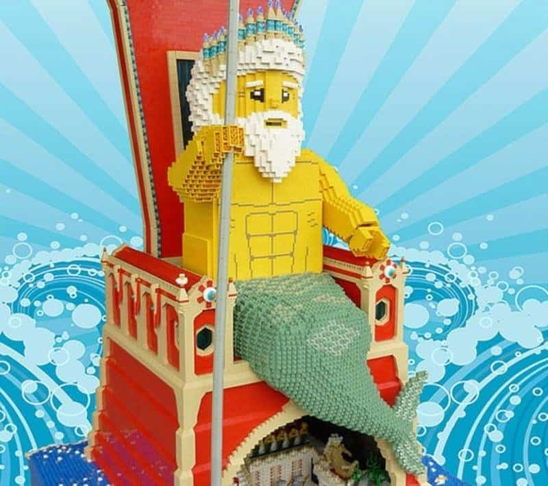 10 Of The Greatest Lego Structures Ever Created The God of the Sea hasn t looked any better recreated in his new Lego  throne  This structure is even more stunning when looking at what s  happening under