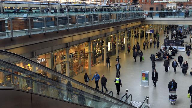 St Pancras International Railway Station London Gare