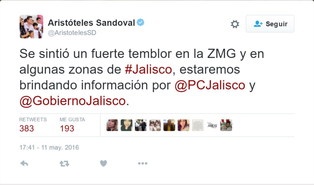 Aristoteles Sandoval tuit