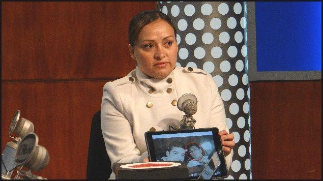 Dovianid Carranza Baruch, hermana de uno de los asesinados en Veracruz. Foto de Internet