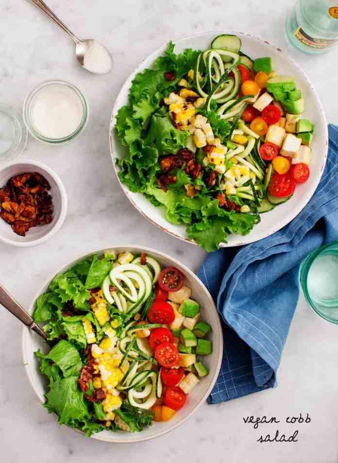 Green summer salads