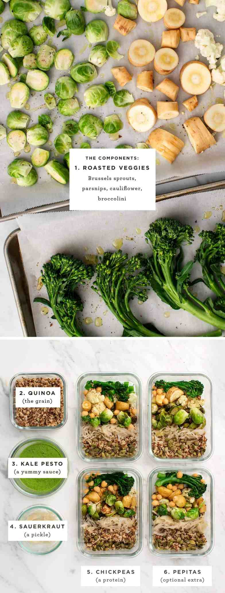 Grain bowl recipe components