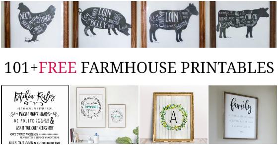 101 Fixer Upper Inspired Free Farmhouse Printables Love