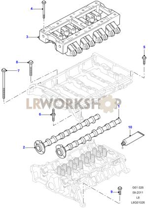 Camshaft  22 Tdci  Find Land Rover parts at LR Workshop