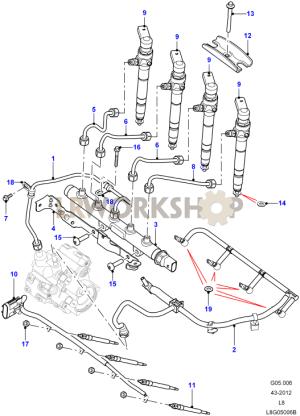 Fuel Injectors  22 Tdci  Find Land Rover parts at LR
