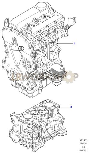 Complete Engine  22 Tdci  Find Land Rover parts at LR