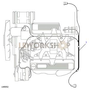 40L V8 Engine Harness  Find Land Rover parts at LR Workshop