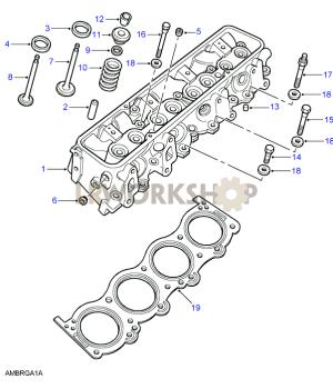 Cylinder Head  V8 3940L EFi  Find Land Rover parts at