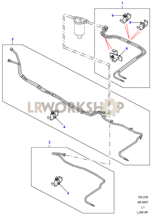 Fuel Pipes  Td5  From XA  Find Land Rover parts at LR Workshop
