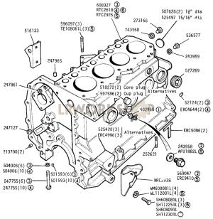Cylinder Block  225 Litre Diesel  Find Land Rover parts at LR Workshop
