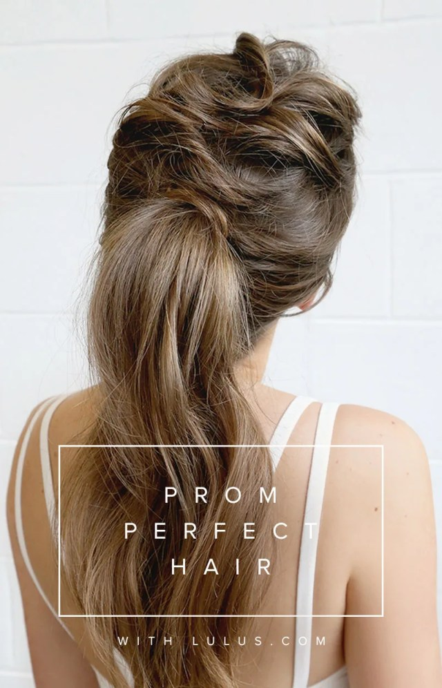 prom perfect hair - the tousled ponytail - lulus fashion
