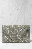 Destined for the Arena Gold Beaded Clutch