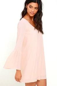Image Result For Bell Sleeve Dress Shift Dress Peach Dress Lulus