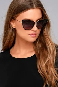 Hamptons Honey Black Cat-Eye Sunglasses
