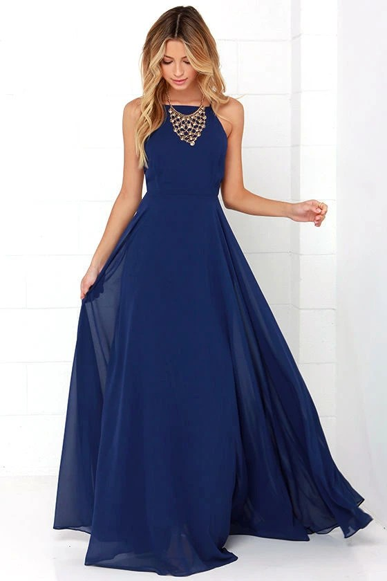 Mythical Kind Of Love Navy Blue Maxi Dress Beautiful