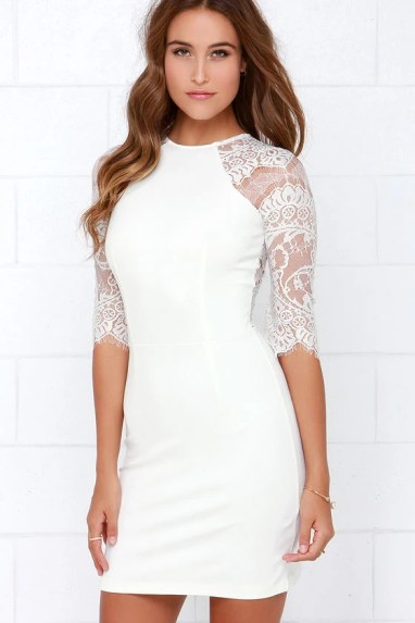 bb dakota princeton ivory lace dress at luluscom
