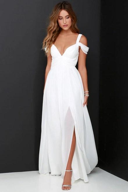 Bariano Ocean of Elegance Ivory Maxi Dress