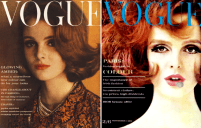 Grace Coddington en couverture de Vogue